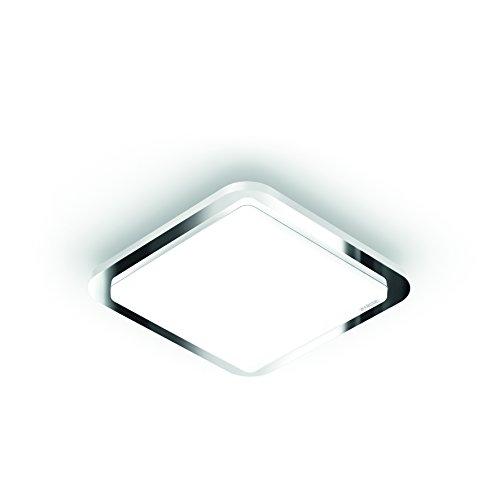 Steinel LED Deckenleuchte RS LED D1 V3, Chrom-Rahmen, 9.5 W Innenleuchte mit 360° Bewegungsmelder, warmweiß, Nachtlicht