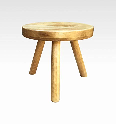 Modern Plant Stand Three Leg Stool by CW Furniture in Honey Indoor Flower Pot Base Display Holder Solid Wooden Kids Chair Table Simple Minimalist Small