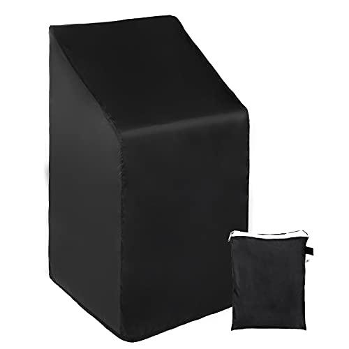 Copertura Protettiva per Sedie da Esterno,Copertura per sedie da giardino impilabili, 210D Oxford Telo Coprisedie Da Giardino Impermeabile anti-UV Per Sedie, Mobili Da Giardino Coprisedie da Esterno