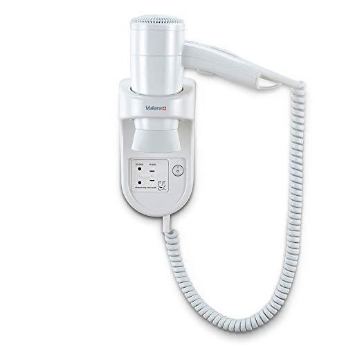 Valera Sèche-cheveux blanc avec cordon spiralé et prise pour rasoir électrique