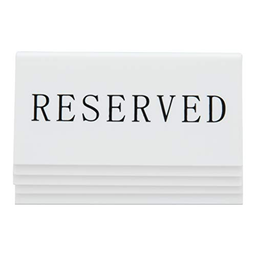 Securit Letreros de mesa,'RESERVED', 4x10x5 cm, paquete de 5 (TN-RES-EN)