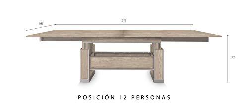 SevenOne - Mesa Extensible y Elevable (Wengue): Amazon.es: Hogar