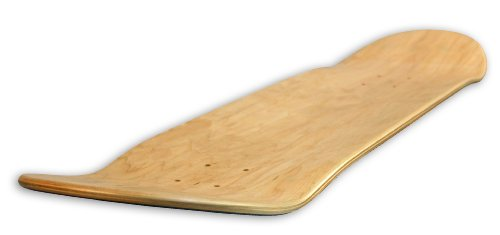 Blank Decks Warning Skateboard Deck (Colors May Vary, 8-Inch)