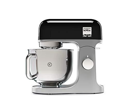 Kenwood KMX750BK Küchenmaschine | Hochwertiges Metallgehäuse | Hochglanzpolierte 5 Liter Edelstahl-Schüssel mit Handgriff |  Planetarisches Rührsystem | Unterhebfunktion | 1000 Watt | schwarz