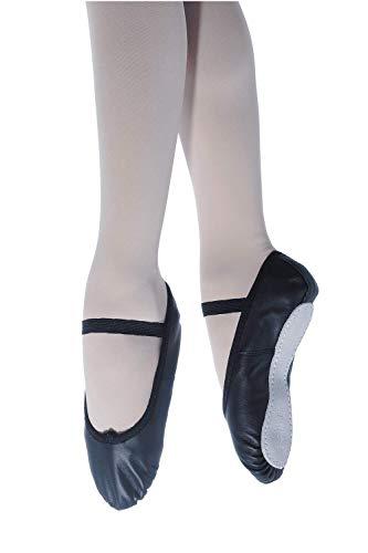 Roch Valley Ophelia Ballettschläppchen aus Leder mit Gummibänder 39 Schwarz