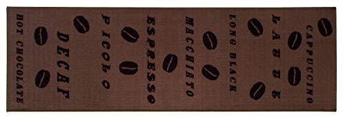 onloom Küchenläufer Coffee, strapazierfähiger und pflegeleichter Läufer in Kaffee-Muster, Verschiedene Motive, braun, Farbe:Design 3, Größe:57 x 180 cm
