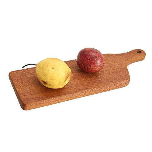DERCLIVE Tabla de cortar de madera Pizzería Steak que sirve tabla de madera Tabla de cortar queso con mango