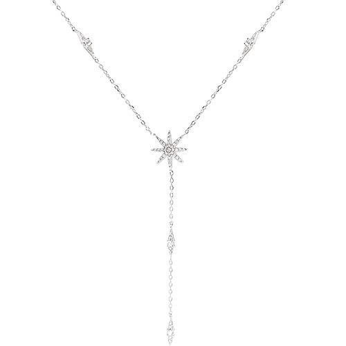 Colgante de moda 925 sterling cadena collar hoja de arce forma Aaa Zircon brillante joyería para las mujeres regalo de vacaciones regalo madre regalo