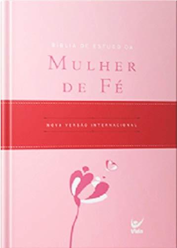 Bíblia de Estudo da Mulher de Fe - Capa Luxo Rosa Claro e Vinho C Indice