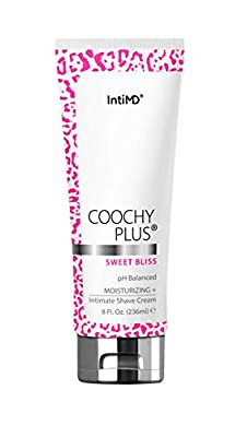 Coochy Plus Intimate Shaving Cream SWEET BLISS For Pubic, Bikini Line, Armpit - Rash-Free With Patent-Pending MOISTURIZING+ Formula – Prevents Razor Burns & Bumps, In-Grown Hairs