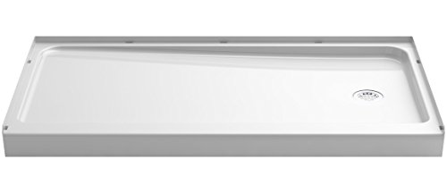 a KOHLER Company  Ensemble Shower Base with Right-Hand Drain, 60 x 32-Inch, White - STERLING 72181120-0