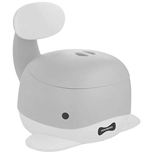 Vasino per Bambini, Wc Portatile, Toilette Pipi con Seduta Ergonomica, Antiscivolo, Pratico, Design Balena Grigio Hawibaba