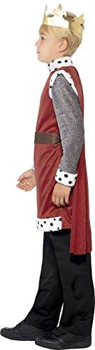 Smiffys Kinder King Arthur Kostüm, Mittelalterliche Tunika mit angebrachtem Umhang und Krone, Größe: S, 44079 - 4