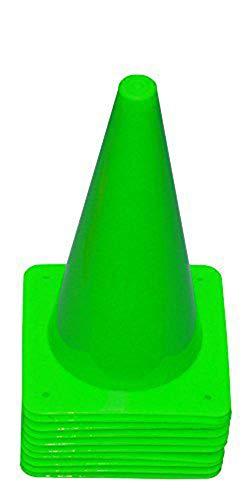 Agility Sport pour Chiens - Lot de 10 plots de délimitation 30 cm, Vert Clair - 10x MK30hg
