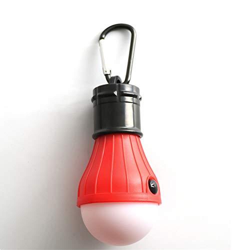 Distinct® 1pc Mini 3 LED Tente de Camping Portable Ampoule de pêche en Plein air Lanterne Suspendue Lampe de Secours à Main (Rouge)