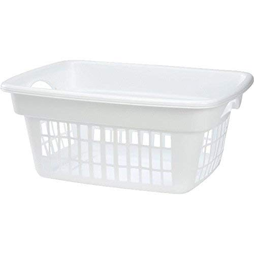 Rubbermaid FG287400WHT Laundry Basket, 1.6 bu Capacity, 1-Compartment, Plastic, White 8 Pack