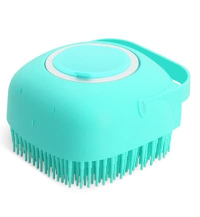 L.B. Dog Bath Brush Silicone, Massage Soft Brush Cats, Pet Massage Brush Shampoo Dispenser