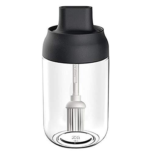 Botella de Aceite de Cepillo Condimento Botella Aceite Cepillo con Cepillo de Silicona Botella de 250 ml para Aceite Salsa Mantequilla Miel para Barbacoa, Hacer Ensalada, Cocinar, Hornear, Asar
