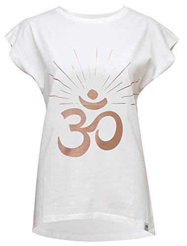 Yogistar Yoga-T-Shirt Batwing Om Sunray - Ivory/Copper S