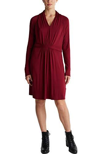 ESPRIT Damen 090EE1E309 Kleid, 600/BORDEAUX RED, XL
