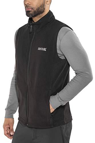 Regatta Herren Tobias II B/W, Fleece Bodywarmer, schwarz, XL
