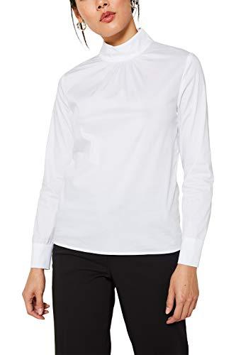 ESPRIT Collection Damen 119EO1F036 Bluse, Weiß (Off White 110), (Herstellergröße: 42)