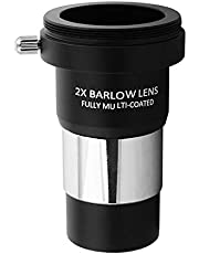 Lente Barlow 2X, Bysameyee Lente Barlow de Metal de múltiples Capas de 1,25 Pulgadas con Rosca M42 Interfaz de conexión de cámara para telescopio Ocular