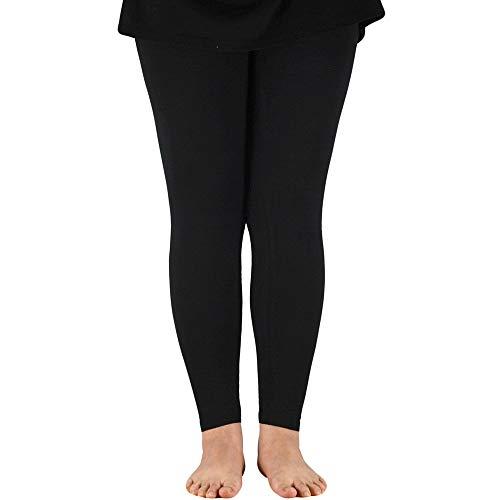 LIUYB AZUE Frauen-elastische Taillen-dünne Gamaschen Bambusfaser Plus Größe Frauen Legging Hohe Stretchy Gamaschen-Hosen-Basis-Training Gamaschen (Farbe : Black Ankle, Größe : XXXL)