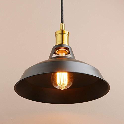BJClight Classic 1 luz Vintage Industrial Rústico Loft Bar Hierro Lámpara colgante...