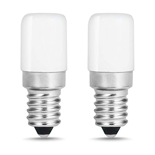 LOHAS LED Kühlschranklampe E14 LED Lampen, 1.5W Ersatz für 15W Halogenlampen, Kaltweiß 6000K, 135lm, 360° Abstrahlwinkel, LED Kühlschrankbirne, LED Leuchtmittel, 220-240V AC, 2er Pack
