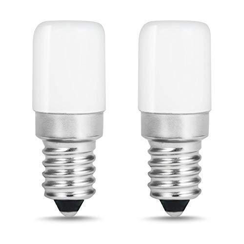 LOHAS 1.5W E14 LED Bombilla, Reemplazo para la Lámpara del halógeno 15W, Blanco Cálido, 135 Lúmenes y Blanco Cálido 2700k, 220-240V AC, SES Refrigerador Bombillas LED de Luz, Paquete de 2 Unidades.