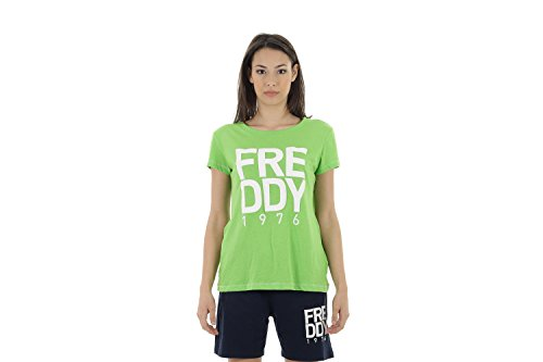 Freddy s6wcot2en Jersey-t-Shirt Mujer, Mujer, Verde, Small