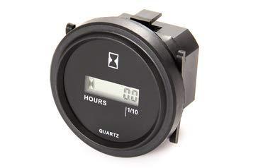 Medidor de hora CC de 12 V (24 V y 48 V) apto para motores diésel y gas, ATV, mx, mtd, barco, motos, cortacésped, carro de golf, carretilla elevadora, RV (LCD1)