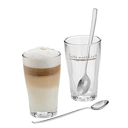 WMF 954149990 Barista - Juego de vasos Latte Macchiato con cucharas (2 unidades)