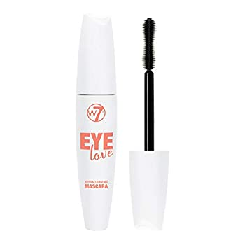 W7 | Eye Love Hypoallergenic Mascara | Black Mascara Formulated For Sensitive Eyes With Vitamin E | Hourglass Shaped Brush For Volume And Length | Cruelty Free Vegan Eye Makeup