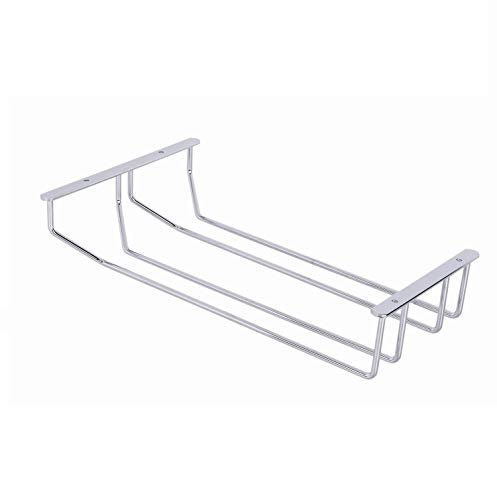 GedoTec® Bar wijnglashouder, glazen rail voor plafondmontage, verchroomd staal, glazen ophangsysteem, 1 rail 110 x 65 x 340 mm, merkkwaliteit voor je woonkamer 2-Schienen Metall Chrom Poliert