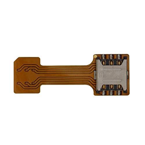 Nihlsfen 1 Uds Ranura para Tarjeta SIM híbrida Universal Adaptador de Tarjeta SIM Dual Micro Extender Nano a Nano para teléfono Android para Xiaomi
