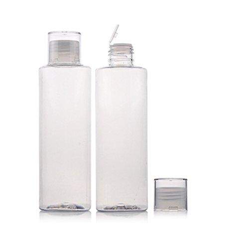 2 pcs 100 ml/200ml Plastique Travel Bottle Split chargement Bouteille Cosmétique Elite Fluide Maquillage Eau support récipient Pot de fleurs en pot de stockage Bouteille Tube
