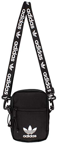 adidas Originals Unisex Festival Crossbody Bag, Black/White, ONE SIZE