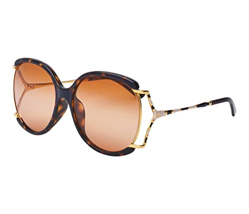 Gucci GG0594SA-002-60 Gafas, Havana Dunkel - Gold, 59.0 Unisex Adulto