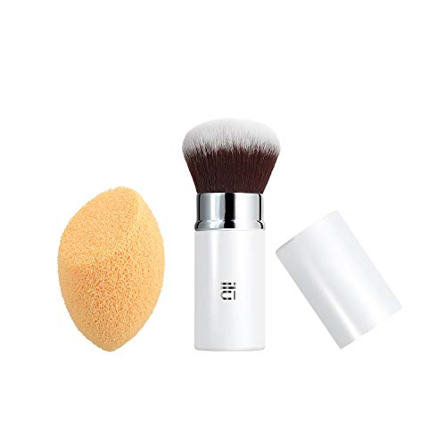 T4B ILU Less Is More 1 Pinceau Maquillage Et 1 Eponge Nettoyante Visage