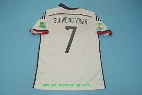 ZA Bastien Schweinsteiger Germany Home Retro Trikot 2014 Size L Full Patch