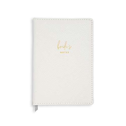 Katie Loxton Brides Notes Pearlescent White 8.5 x 5.75 Vegan Leather Soft Cover 100 Page Notebook