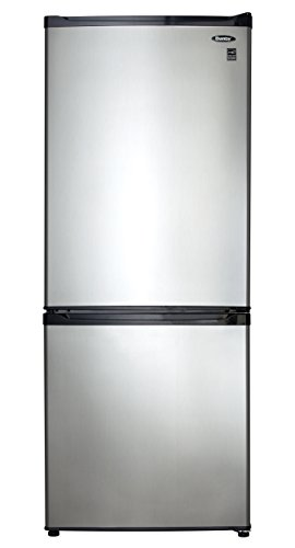 Danby DFF092C1BSLDB 9.2 Cu.Ft. Bottom Mount Refrigerator, Energy Star-Rated Apartment Refrigerator with Frost Free Operation and Electronic Thermostat