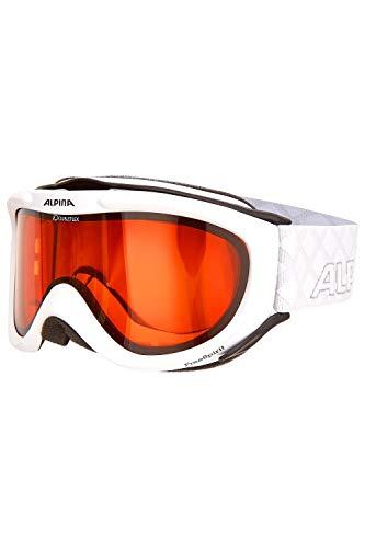 ALPINA Erwachsenen Skibrille FREESPIRIT DH OneSize (White-White)