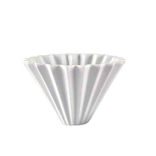 ZZYUBB Keramik Origami-Art V60 Filter-Schale Kaffee Dripper Kaffeetasse Gießen Brewer for 1-2 Tassen Filterpapier V60 Kaffee Dripper Coffee (Color : White)