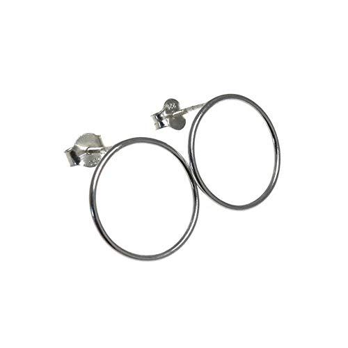 Pendientes aros plata Ley 925m Karma 17mm. diámetro exterior [AC0351]