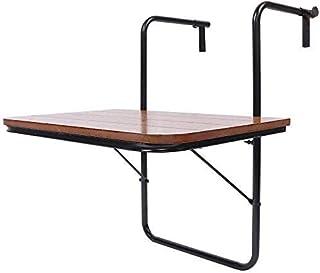Hierro mesa suspendida, balcón mesa plegable,A