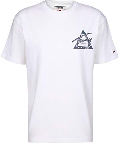 Tommy Hilfiger Tjm Washed Graphic Tee Camicia, Bianco (Classic White 100), XX-Large Uomo