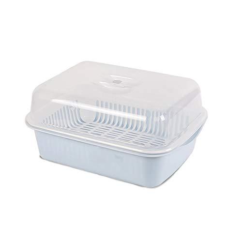 YUMEIGE Kosmetische Aufbewahrungsbox Geschirr Aufbewahrungsbox, Schüsselablaufgestell, Küchenaufbewahrungsbox, Kunststoffschrank mit Deckelregal, leicht zu zerlegen und leicht zu reinigen